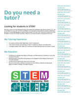 Tutoring Services in STEM