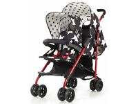 Cosatto tandem shuffle double buggy stroller star design