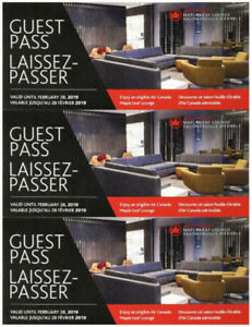 Air Canada Maple Leaf lounge Guest Passes $45 each