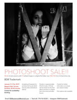 SPECIAL OFFER: 1 hour photoshoot - 10 digital photo file- $40.00