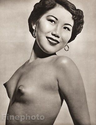 1950's Vintage Ethnic FEMALE NUDE Asian Oriental CHINESE Photo Art JOHN EVERARD