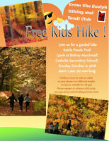 Next free KIDS HIKE is on October 2nd...come hiking with us!