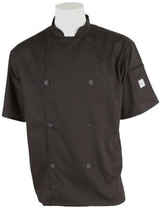 New Mercer Culinary Short Sleeve Black Chef/Cook Jacket 7X-Large