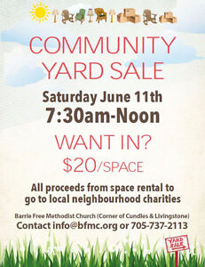 Community Yard Sale - Rent Your Space Now!