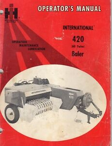 Hay Baler  International 420  ( all Twine)