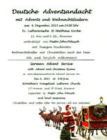 ****German Advent Service in Hanover****