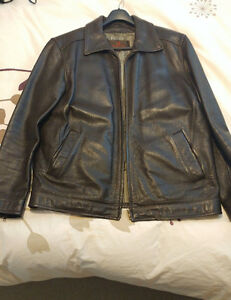 Men's Brown Danier Leather Coat