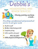 Experienced housekeeping and senior care services