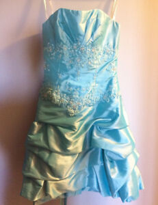 Size 10 Turquoise/Light Blue Prom Dress