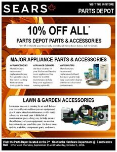 ALL PARTS & ACCESSORIES 10% @SEARS PARTS DEPOT SOUTHCENTRE MALL
