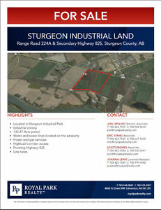 132.47 Sturgeon Industrial Land for Sale
