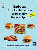 BBQ At The Brockville Legion   Every Friday  12pm to 1pm