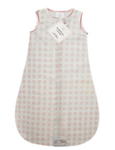 SwaddleDesigns 100% Organic Cotton Dots Hearts Sleep Bag 3-6mo