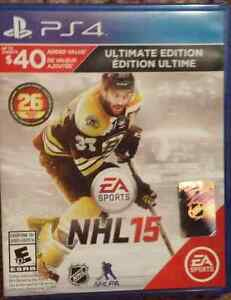 NHL 16  AND 15 FOR PS4 London Ontario image 2