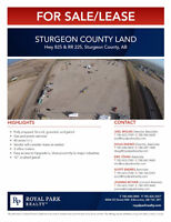 Sturgeon County Land for Sale/Lease