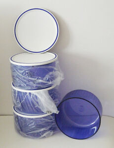 4 blue candy/snack cannisters (1 litre each) - Tupperware New