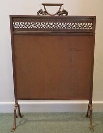 Old Firescreen needs embroidery panel. Nice project for crafty person.