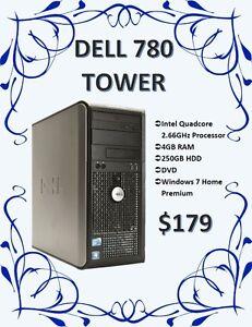 SPRING DESKTOP SALE - Dell 780 Tower Only $179!