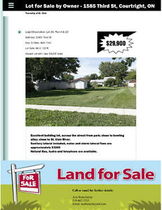 Lot for Sale  - 1585 Third St. Courtright, Ont