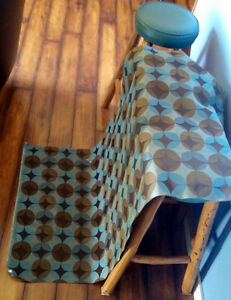 Geometric Upholstery Fabric - Browns, Greys & Blues