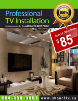 TV installation and TV wall mounting service by i-Mount-TV