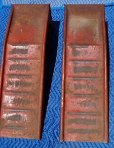Red Metal Car Ramps for sale good condition