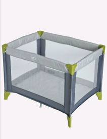 Cuggl grey travel cot and mattress
