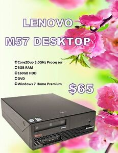 SUMMER DESKTOP SALE - Lenovo M57 Desktop Only $65!