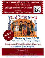 Shout Sister Fundraiser for Kingston 4 Paws Service Dogs