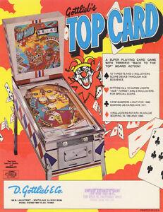 Pinball Gottlieb Top Card