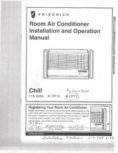 Two FRIEDRICH Room Air Conditioners,Best Offer over $550.