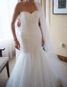 White Wedding Dress Fit and Flare. Very Beautiful!
