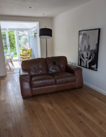 2 seat Barker & Stonehouse leather sofa