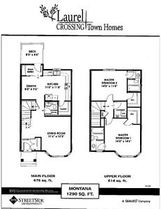 BRAND NEW-2 Master Bedrooms,NO FEE,$309,950, By QUALICO