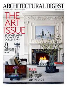 ARCHITECTURAL DIGEST Veranda ELLE DECOR Nov 2014-Sept 2016