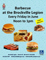 BBQ  are back  every  Friday in June  Noon to 1pm