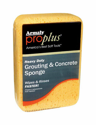 Armaly  proplus  Delicate, Light Duty  Grout & Concrete Sponge  7-1/2 in. L 1 pk Light Duty Concrete
