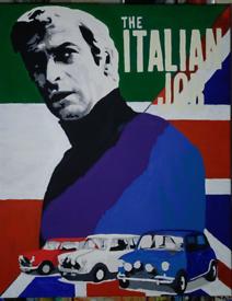 "Michael Caine ""the Italian job"" painting"