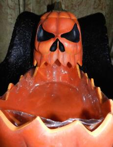Vintage Halloween BIG+Mean Pumpkin Candy Catch All !