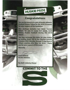 AWESOME DEAL: Huskie Seasons Tickets (2): pick your seats!