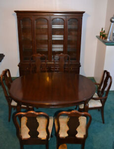 Victorian Style Mahogany Dinning Sets with Cabinet