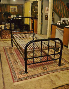 Antique Single Bed Frame with Springs