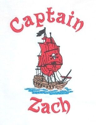Personalized Custom Boy or Girl PIRATE SHIP with Name or for Birthday T Shirt](Girl Pirate Names)