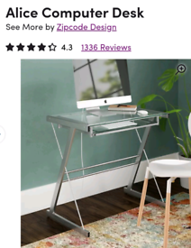 Wayfair glass desk