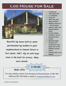 Log House for Sale in Fort Smith
