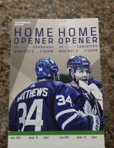 Canadiens vs Maple Leafs - (HOME OPENER) CENTRE ICE WED OCT 3