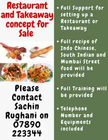 Restaurant and Takeaway Concept for Sale