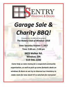 Sentry Windows and Doors Garage Sale and Charity BBQ