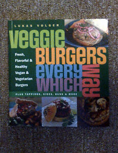 Veggie Burgers Every Which Way Cookbook  In good condition, the