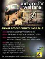 Charity yard sale to benefit homeless dogs in Mexico